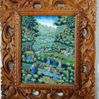 バリ細密風景画