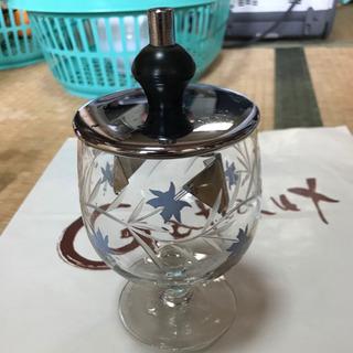 ガラス製シュガーポット 角砂糖  コーヒー用品