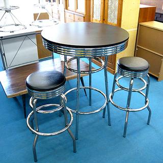 札幌 アメリカンバーテーブルセット ハイカウンターテーブル チェ...