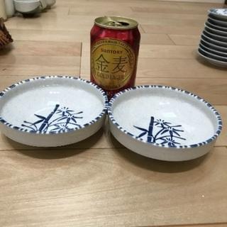 92、昭和レトロな小皿(竹の絵)2枚 - 岡山市