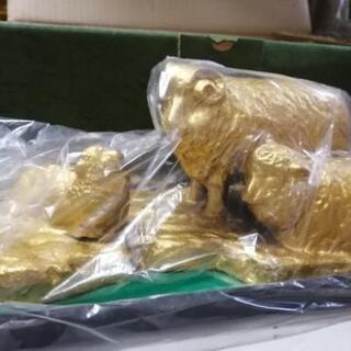 置物 黄金羊 般若純一郎作
