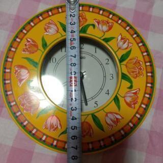 期間限定 値引き 美品 KENZO 掛け時計 黄色に花柄