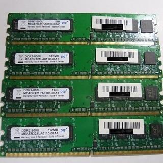 DDR2-800U 3G メモリー