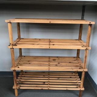 木製棚 収納 靴棚