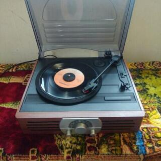 現状 レコードプレーヤー AM FM ラジオ付き