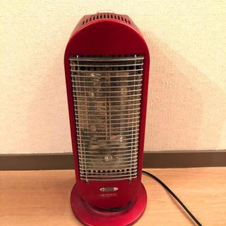 【¥1000シリーズ◎お得】電気ストーブ(赤)