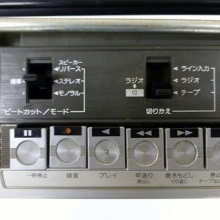 価格変更しました。昭和レトロ Victorステレオラジカセ RC-555 中古 - 家電