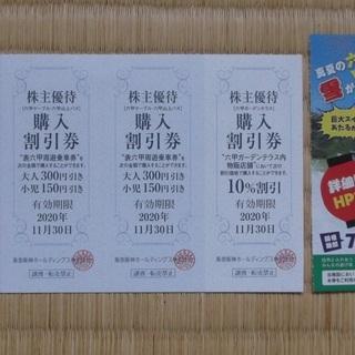六甲山カンツリーハウス入場券ペア、ソフトクリーム(2個)引換券1...