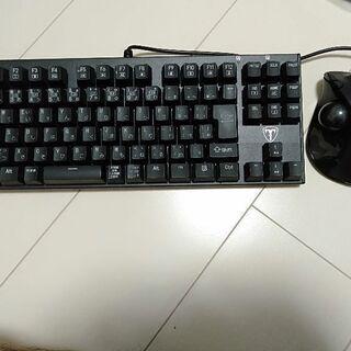 ゲーミングキーボードマウスセット半額