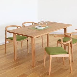 【新品未開封】ヤクモのお洒落な北欧天然無垢ダイニングテーブル