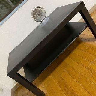 【無料】27日まで!IKEA ブラック 黒 ローテーブル