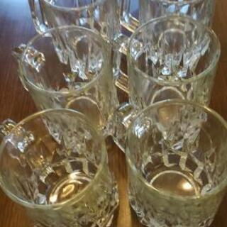 昭和レトロ  プレスガラスの ビアジヨッキ ビールグラス