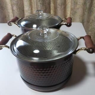 銅鍋 蒸し器にもなります。