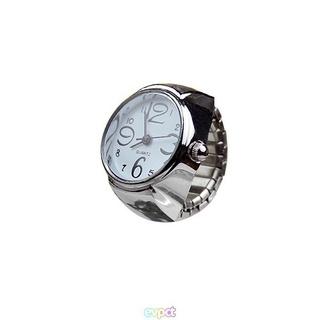 男女兼用カップルリング時計ステンレス鋼クォーツ時計リング2個