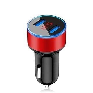 USB充電器2ポートLCDディスプレイ3.1A 12-24V兼用...