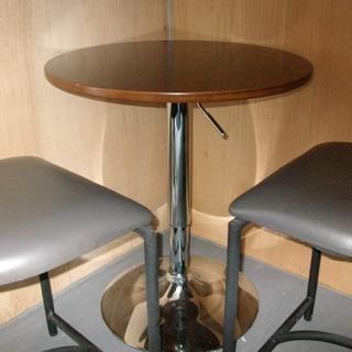 店舗用丸テーブル 椅子3脚