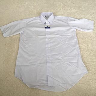学校の制服に!新品‼️半袖 男子 スクールシャツ ホワイト