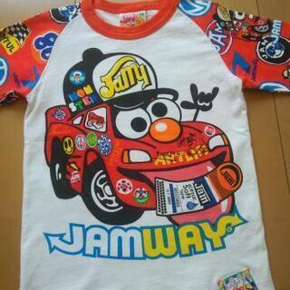 JAMジャム120カーズ七分丈白×赤