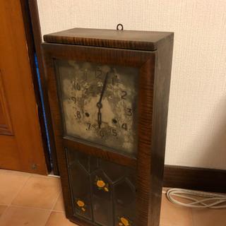 【あげます】精工舎 時計 木製キャビネット 昭和レトロ アンティ...