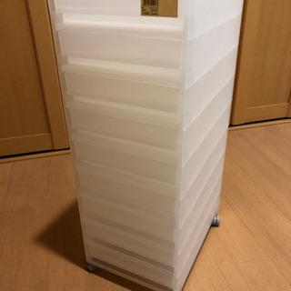 【無印良品】 PPケース引出式 薄型9段キャスター付
