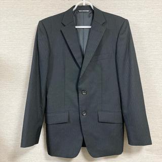 メンズスーツ ジャケット ブラック ストライプ 92Y5
