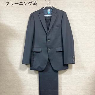 【通年用】メンズスーツ セットアップ ブラック ストライプ