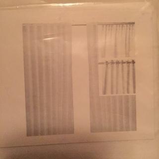 新品未使用未開封‼️ ①IKEAカーテン ②IKEA掛け布…