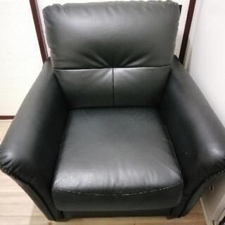 取引相手決定しました【座り心地抜群】一人がけソファ ブラック