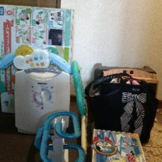 メリー、布団乾燥機、調味料台、マザーズバッグ他