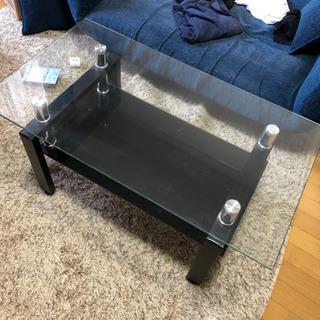 無料 テーブル ガラス 2段 インテリア 机