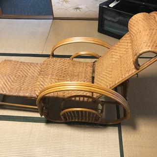 藤 リクライニングチェアー 座椅子