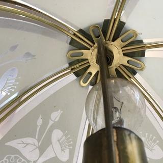 アンティーク調 電気スタンド  ナイトスタンド 卓上ライト アサガオ 花柄 動作OK 高さ28cm - 生活雑貨