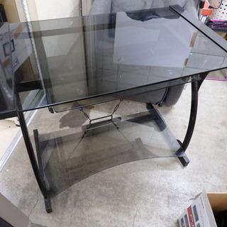 発送不可■新札幌発★ガラス PCテーブル パソコンラック PCデ...