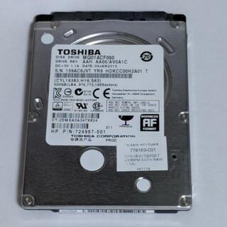 【ジャンク】HDD 500GB 東芝 TOSHIBA 2.5イン...
