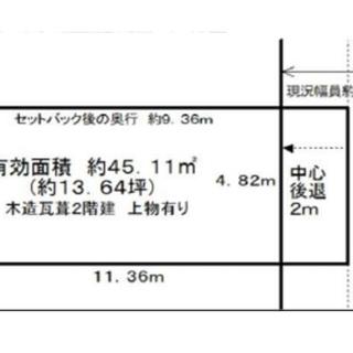 売り土地 売り地 住宅用地 新築用地 大阪市生野区(古家付き)