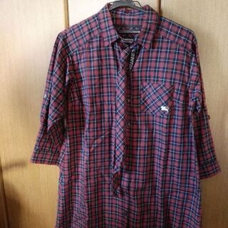 BURBERRY blue label 七分袖シャツ