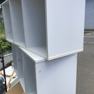 差し上げます!カラーボックス ホワイト 2個 − 北海道