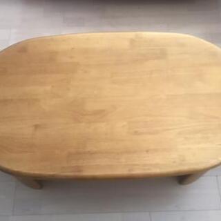 木製 木目ローテーブル