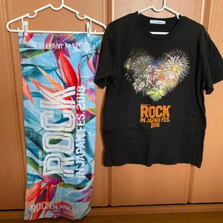 ロックインジャパン 2018 tシャツMサイズ タオルセット 良品
