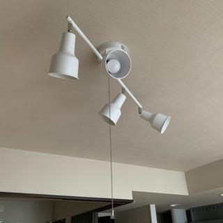 4灯シーリングスポット白 LED対応 おまけ電球8個付き