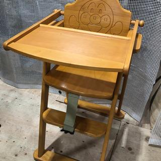 人気‼︎アンパンマン木製ハイチェアー - 家具