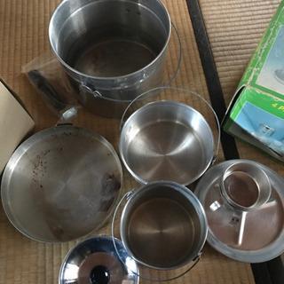 キャンプの鍋 アルミ鍋