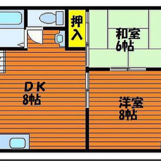 岡山市北区白石 低層マンション2DK39平米 南東の角部屋家賃