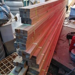★DIYに材木屋根 野緑に 赤松 垂木4mx45mm 130本 白井市
