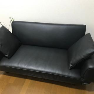 【至急】【売ります】リクライニングソファ(二人掛け ソファ 黒)