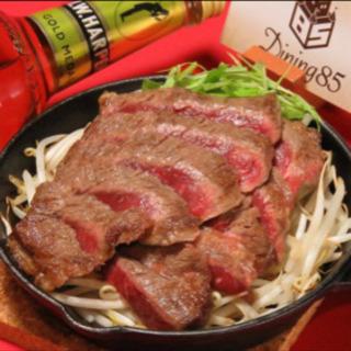 天神北 Dining85の合コンコース料理は、ステーキ☆