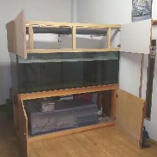 水槽 ガラス フルセット 幅1800 × 奥行600  高さ600