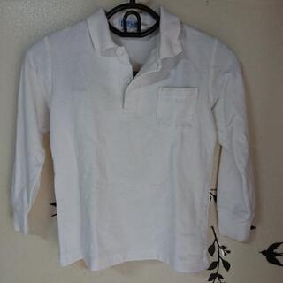 白の長袖ポロシャツ  130センチ