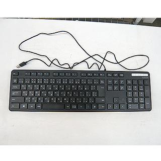 美品【有線薄型フルキーボード】テンキー付 薄型キー USBで簡単...