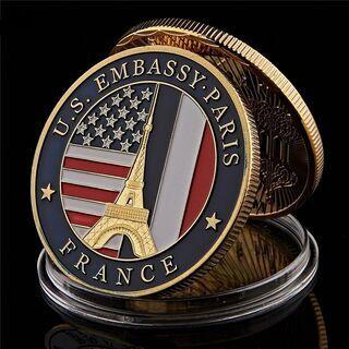 非売・記念品 駐フランス・パリ アメリカ大使館の巨大コイン